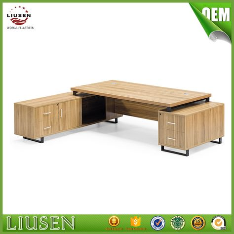 Source Best Price Veneer Executive Desk Modern Office Table