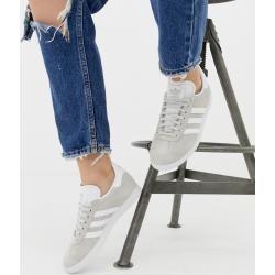 adidas Originals – Gazelle – Sneaker in Grau und Weiß adidasadidas