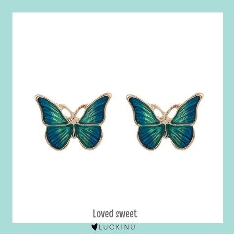 Loved sweet Butterfly Solid Earring S925 Hook $14.99