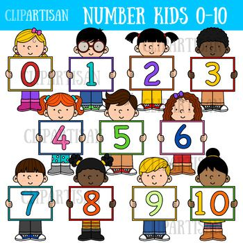 Kids With Numbers Clip Art 0 10 By Clipartisan Tpt Art Bundle Clip Art Art