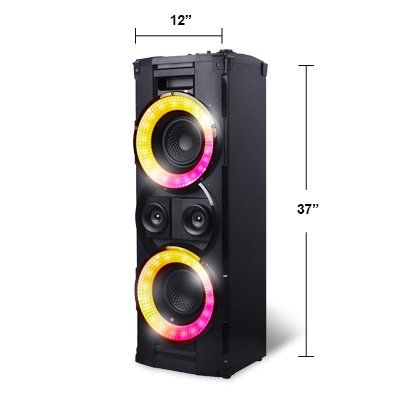 Bluetooth Wireless Tower Speaker Hex Encore Xl Floorstanding Speaker With 2 Microphones Inpu Wireless Speakers Bluetooth Wireless Speakers Car Tracking Device