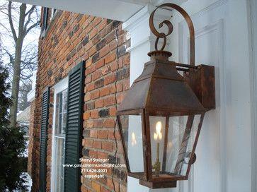 Front Door Gas Lanterns By Sheryl Stringer Traditional Outdoor Lighting | ~ Lighting~ | Pinterest | Gas Lanterns, Outdoor Lighting And Front Doors