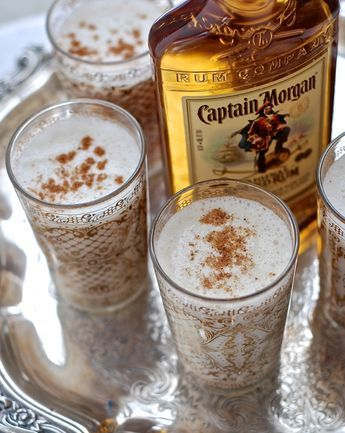 3 and 1/2 cups whole milk 1 and 1/3 cups heavy cream 1 and 1/2 cups Captain Morgan Original Spiced Rum 1 cup powdered sugar 1 Tablespoon pure vanilla extract nutmeg for garnish