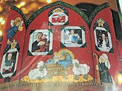 Bucilla Christmas Manger Felt Photo Album Kit #85021 Crèche de