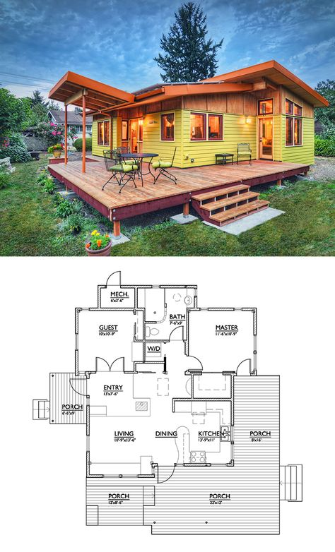 Cabin Style House Plan 2 Beds 2 Baths 1230 Sq Ft Plan 924 2