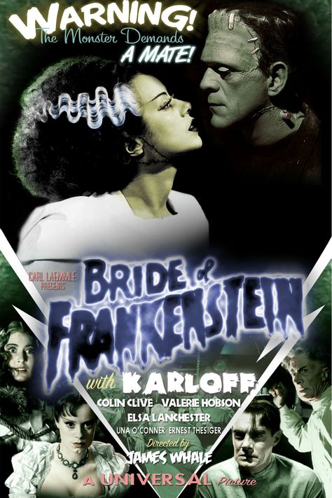 Bride of Frankenstein movie poster, Dan Almanzar