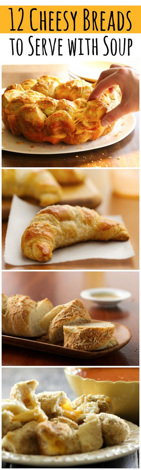 12 cheesy side breads to pair with your favorite soup!!