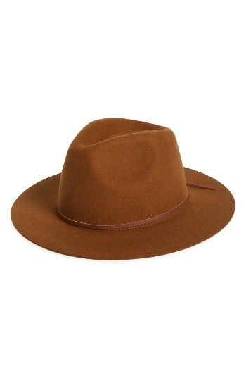 2561ddbf5e2 Free shipping and returns on Brixton  Wesley  Wool Fedora at Nordstrom.com.  Top off your fall ensembles with a classic felted-wool fedora in a rich