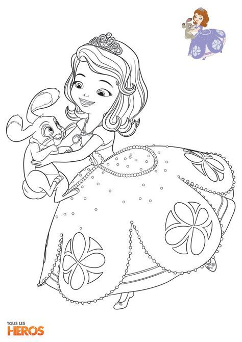 Sofia The First Princess Ivy Coloring Pages - Dejanato