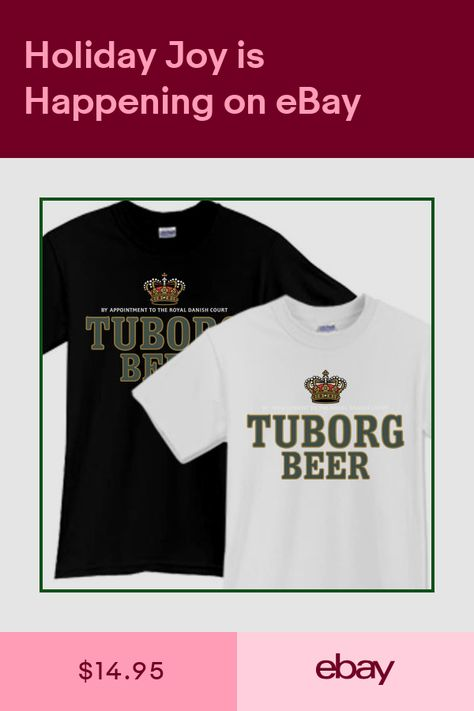 TUBORG Beer T-Shirt Brewery Ale Promo Black White TShirt Tee Size S M L XL 2XL