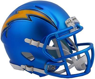 dcd1ead4 Riddell SD Chargers Blaze Revolution Speed Mini Football Helmet ...