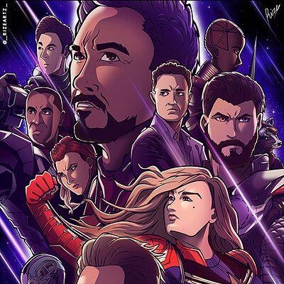 Fanart Avengers Endgame Anime Style Anime Anime Style Fan Art
