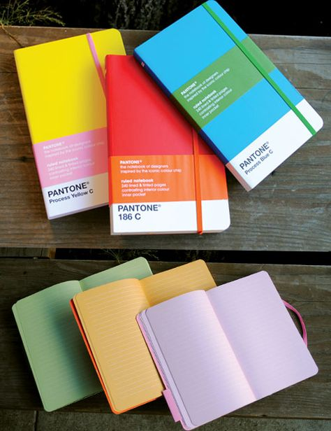PANTONE Ruled Notebooks. Like the colour inside...