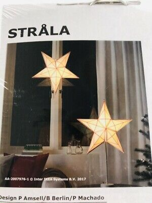 Set Of 3 Ikea Strala Star Pendant Lamp Shade Hanging White Red Lines 23 New In 2020 Star Pendant Lamp Pendant Lamp Shade Hanging Star Light