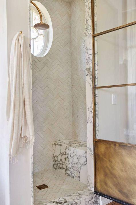 #modernbathroom #homereno #interiors #marbleshower