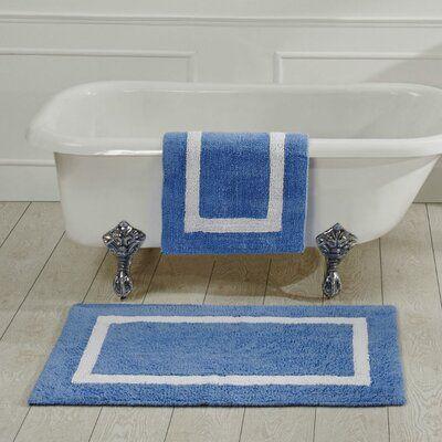 Highland Dunes Widman Bath Rug Size 30 W X 30 L Colour Blue