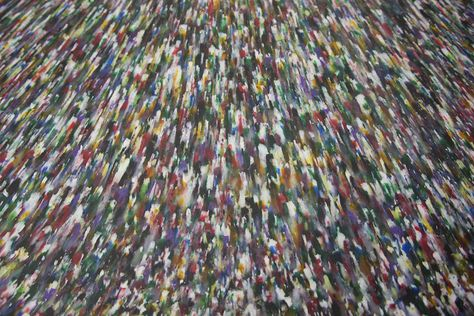 Smile Plastics makes recycled plastic sheets from shredded industrial foodstuff containers, mixed with some of their own factory scrap. They add the coloured veins in the recycling process. Samples vary according to where they were cut from the sheet.