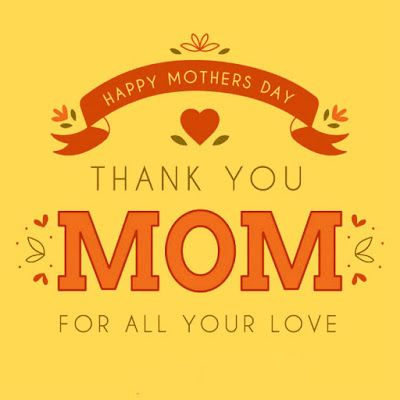 Thank you mom - Happy Mothers Day Images