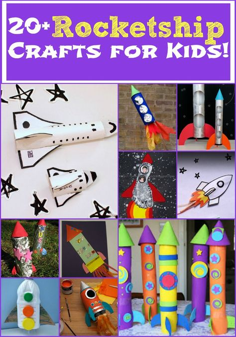 Who says rocket ship crafts for kids are only for boys! Check out