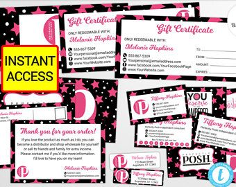 Perfectly Posh Marketing Cards Set Package Business Cards Set Perfectly Posh Kit Perfectly Posh Set Per Business Card Set Sales And Marketing Business Template