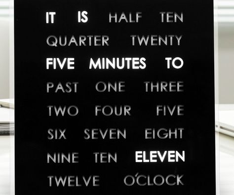 Light Up Word Clock Light Up Words Clock Display Cool