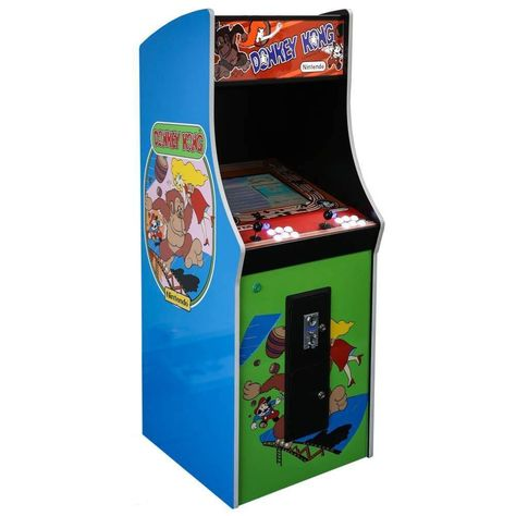 Classic Donkey Kong Arcade Cabinet Machine with 60 Games