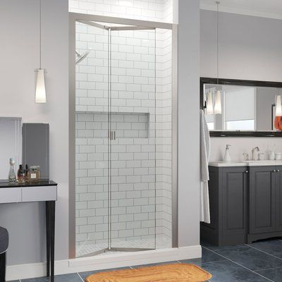 Basco Infinity Bifold 37 X 72 Folding Semi Frameless Shower Door