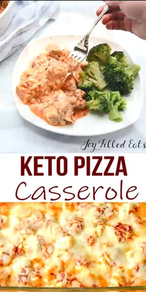 Keto Pizza Casserole - #Casserole #Keto #Pizza