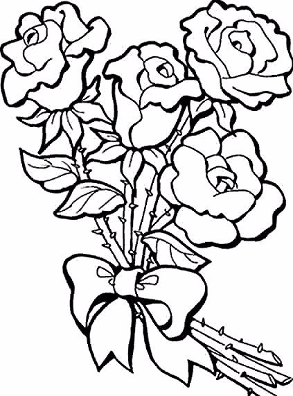 Mawar Merah In 2020 Flower Coloring Pages Free Coloring