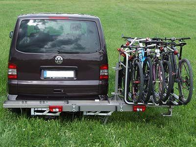 Schwenkbarer Fahrradtrager An Vw T5 Fahrradtrager Campingbus