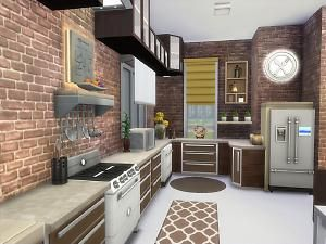 Mod The Sims Sunville No Cc Sims 4 Kitchen Sims House