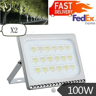 2x 100w Led Flood Light Cool White Outdoor Spotlight Garden Yard Lamp 110v Ip67 Ebay In 2020 Led Flood Flood Lights Led Flood Lights