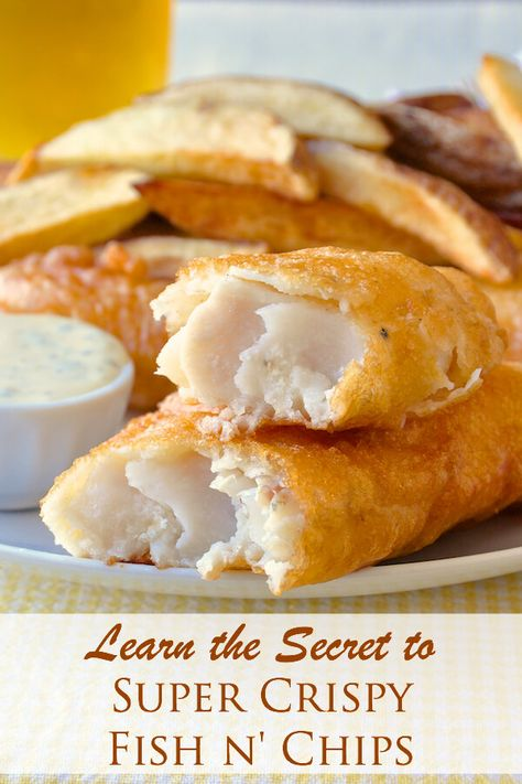 Super Crispy Fish and Chips - after years of experimenting I've perfected my homemade version of fish and chips that uses one particular ingredient in the batter recipe for guaranteed crunch.