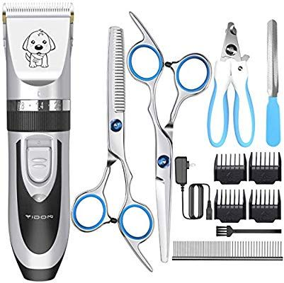 Amazon Com Dog Clippers Yidon Cordless Adjustable Pet Clippers