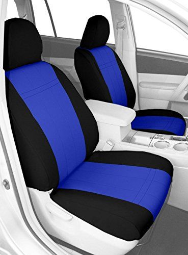 Neosupreme Coverking Custom Fit Front 50//50 Bucket Seat Cover for Select Toyota Camry Models Gray with Black Sides