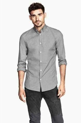 Pin de Renzo en moda hombre verano | Camisa gris hombre