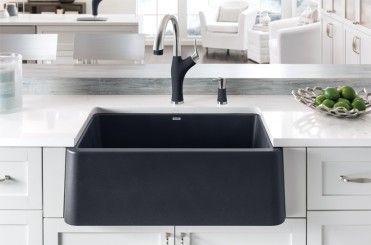 Blanco Ikon Silgranit Apron Front Farmhouse Kitchen Sink