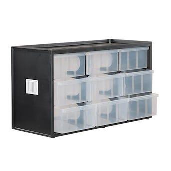 Craftsman Bin System 9 Compartment Plastic Small Parts Organizer Lowes Com Small Parts Organizer Drawer Bins Building Kitchen Cabinets