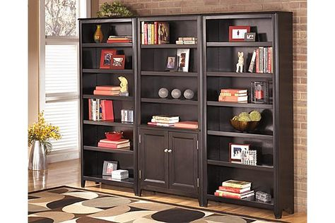 The Carlyle 75 Bookcase From Ashley Furniture Home Afhs Sleek Design Of Contemporary Styled Office Collection Brings A