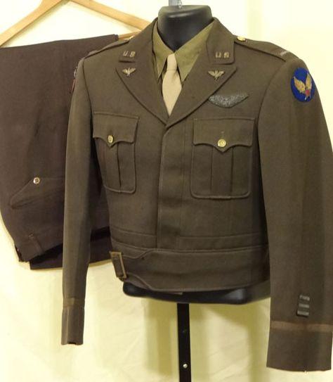 WW II Army Air Force CBI Officers Uniform Set