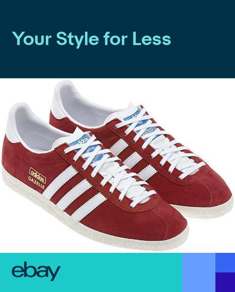 release date b4552 bc448 adidas Originals Gazelle OG Mens Trainers - RedWhite - G04117 - Size UK 7-12