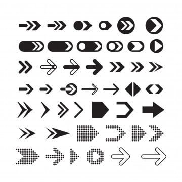 Set Of Various Black Arrows Black Icons Arrow Icons Collections Sharing Various Arrow Icons Png And Vector With Transparent Background For Free Download Black Arrows Vector Icon Design Icon Collection