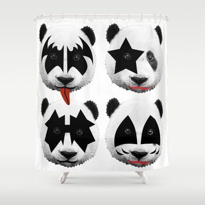 Kiss Shower Curtain By Mark Ashkenazi 68 00 Curtains Shower