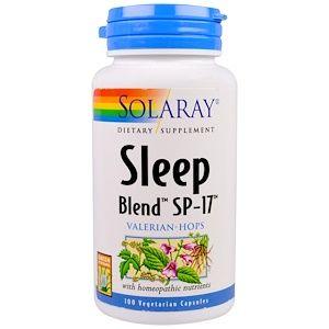 Solaray Sleep Blend Sp 17 100 Vegcaps Drink Bottles The 100 Vegan