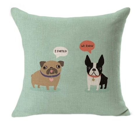 French Bulldog Throw Pillow A Home Without is Just a House Dog New Green Soft