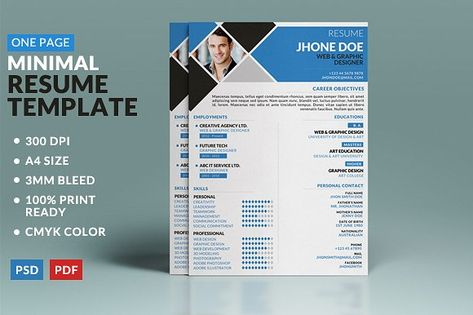 15 best One Page Resume Template images on Pinterest Resume - submit resume