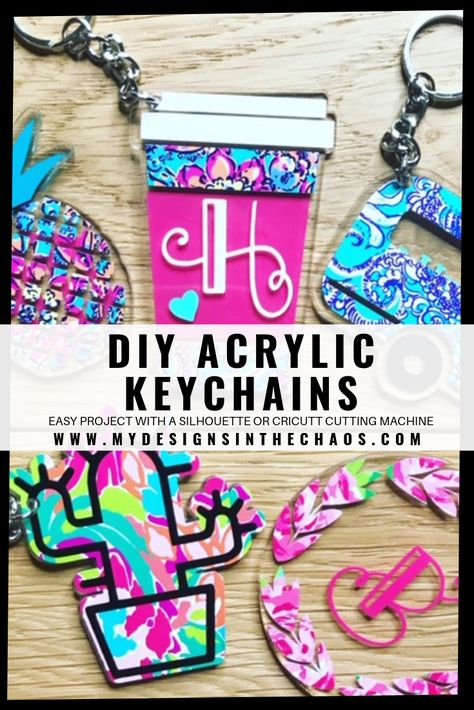 DIY Acrylic Key chain with Adhesive Vinyl - My Designs In the Chaos
