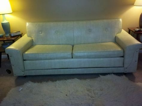 Vintage Mid Century Vinyl Couch-- on C-list RIGHT NOW ...