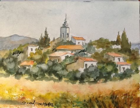 Village Provencal Gerard Deymonaz Gerard Deymonaz Peinture