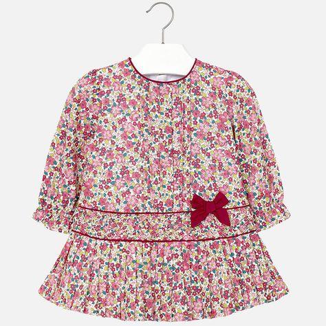 b78a0cf5e2f Mayoral - Παιδικά Ρούχα online - Φόρεμα σταμπωτό λουλούδια - OLE OLA ...